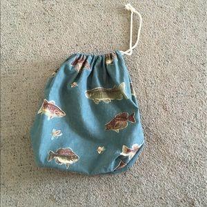 Handbags - Draw String Fishing Theme Bag